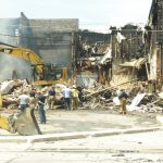 After 9-alarm fire in Lapeer, 2 buildings demolished; half of Grondins still stands